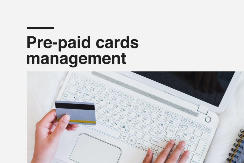 Pre-paid cards management